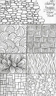 zentangle - dooding - doodle designs -Variety of background patterns and fillers - #zentangle #dooding