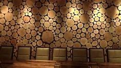 wood rounds accent wall - Bing images
