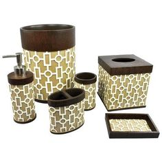 Sherry Kline Linear 6 Piece Bathroom Accessory Set