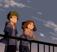 My Hero Academia Memes, Hero Academia Characters, Girls Characters, My Hero Academia Manga, Otaku Anime, Manga Anime, Asui Boku No Hero, Cute Anime Coupes, Deku X Uraraka