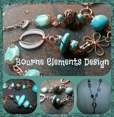 Long Boho Turquoise Necklace