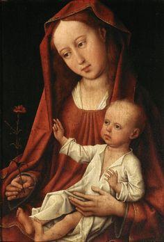 kiraablue: Virgin with the Carnation by Rogier van der Weyden