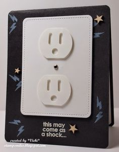Stamp Smiles: It's So Shocking! #birthday #masculine #electrician