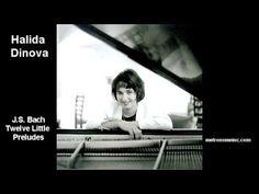 ▶ Halida Dinova Performs J.S. Bach Twelve Little Preludes - YouTube