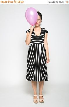 8b3128a9ac ON SALE Black and white summer dress short sleeve by TAPUmeyou Black And  White Summer Dresses