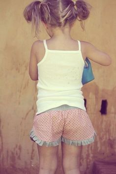 adorable ruffled shorts