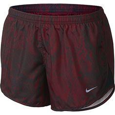 Nike Printed Modern Tempo Ladies Running Shorts - Red