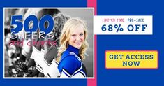 Say whaaaat! 68% off the Cheerleader Handbook? Does it get any better than that? Get your hands on this insanely helpful handbook for all your cheerleading needs! From dance routines to exciting new chants, we have got what you need for your cheer squad to thrive! Cheerleading Moves, Cheerleading Photos, Cheerleading Cheers, Cheer Coaches, Cheerleading Outfits, Cheerleader Hairstyles, Cheers And Chants, Basketball Cheers, Cheer Dance