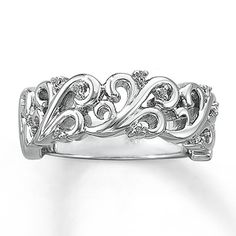 Diamond Ring Round-Cut Sterling Silver