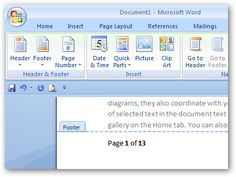 How to insert page number in Microsoft word vista?