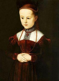 A portrait of Archduchess Anna Of Austria.