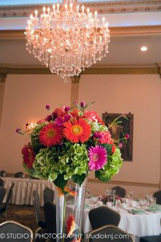 bright tall centerpiece