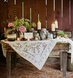 Rustic country wedding decor