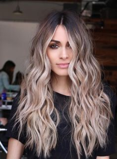 Balayage and ombre hair. Hair Color Ideas & Trends for - Long HairHairstyles hair ideas. Balayage and ombre hair. Hair Color Ideas & Trends for Stylish and attractive. Perfect Hair Color, Hot Hair Colors, Cool Hair Color, Hair Styles With Color, Color For Long Hair, Fall Hair Colour, Light Hair Colors, Popular Hair Colors, Trendy Hair Colors