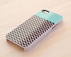 iPhone case by Another Case - chevron & mint