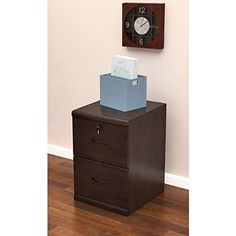 Z-Line Designs 2-Drawer Vertical File Espresso Cabinet with Black Accents
