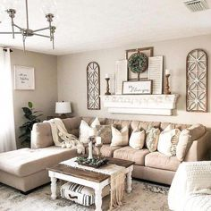 39 incredible farmhouse living room sofa design ideas and decor 15 - Home - . - 39 incredible farmhouse living room sofa design ideas and decor 15 # - Living Room Sofa Design, Living Room Designs, Living Room Themes, Living Room Decorations, Bedroom Designs, Living Room Walls, Wall Decorations, Living Area, Living Room Ideas House