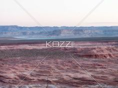 high angle view of mountain range at lake mead - Scenic view of mountain range and cliffs.