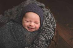 Navy Blue Knit Newborn Hat Wool/Angora Newborn Hat by bluestonesky