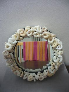 Buy Sea shell mirror (for bathroom) for Round Mirrors, Sea Shells, Bathroom, Beach, Frame, Decor, Washroom, Picture Frame, Decoration