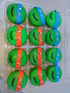 TMNT themed cupcakes. Deb's