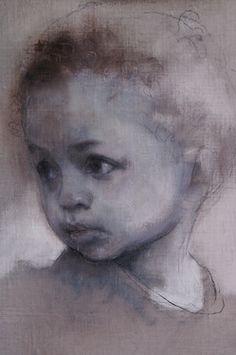 "Saatchi Online Artist Neil Helyard; Unknown, ""Catalina"" beautiful head study."