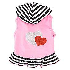 Top Paw® Glitter Heart Hoodie Dress