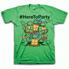 #HereToParty Ninja Turtles Shirt