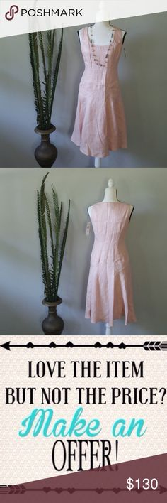 NWT Ralph Lauren dress A beautiful blush color complements the square neckline on this simple dress.  A fit and flare torso gives a slimming effect. Offers are welcome.  Please refer to the chart for offer guidelines. Ralph Lauren Dresses Midi