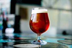 Jukebox's Randall Beer in Stolzle Schwenker Glass on Old Vinyls...