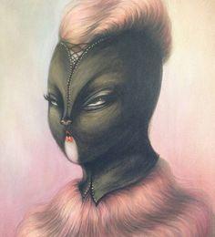 Black Leather Mask Artist: Miss Van