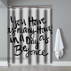 Beyonce Quotes Screenprint Shower Curtains