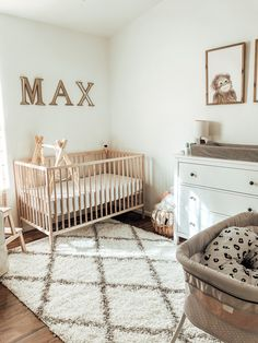 Ikea Nursery, Baby Nursery Decor, Simple Baby Nursery, Ikea Baby Room, Nursery Crib, Apartment Nursery, Ikea Baby Bed, Simple Neutral Nursery, Baby Nursery Organization