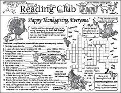 THANKSGIVING - Enjoy a Thanksgiving-themed Two-Page Activity Set and a Thanksgiving-themed puzzle with this discounted bundle! Includes: • Happy Thanksgiving (Turkey and 'Pi') Two-Page Activity Set • Thanksgiving Words Crossword Puzzle