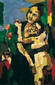 'Mother and Child, Embracing' (1922) by Oskar Kokoschka