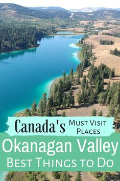 holiday trip The Okanagan is one of Canada's most pristine regions. Discover the best turquoise lakes, hot weather and best things to do between Kelowna and Osoyoos. Cool Places To Visit, Places To Travel, Travel Destinations, Travel Diys, Travel Gadgets, Travel Packing, Travel Essentials, Voyage Canada, Perfect Road Trip