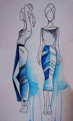 knitwear sketch. watercolor