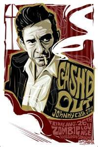 Concert poster art #music Johnny Cash