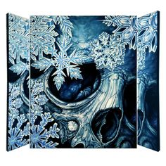 Winter Skull Canvas Giclée Print By Damien Voss