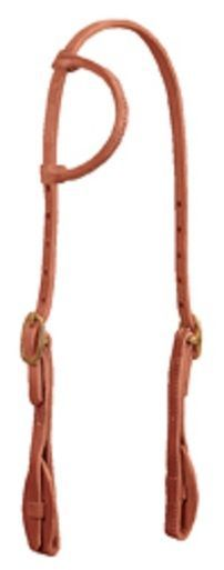ProTack® Quick Change Sliding Ear Headstall, Leather Tab Bit Ends by Weaver