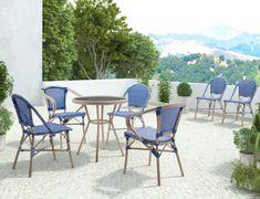 Paris Blue Chair Set Of 2 Art Van Furniture Bamboo Dining Chairs