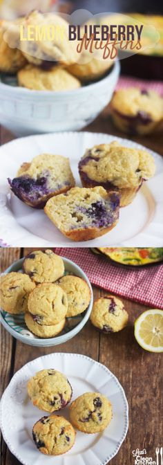 Lemon Blueberry Muffins that are Gluten-free, dairy-free, paleo-friendly. Fluffy, moist, and bursting with flavor!