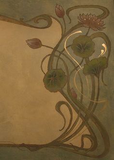 Art Nouveau panel detail | mural