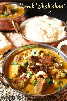 Lamb Shahjahani - A Mughlai inspired lamb dish flavored with almond milk…
