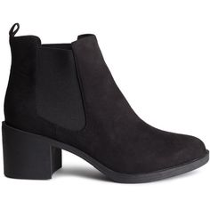 H&M Ankle boots (49 AUD) ❤ liked on Polyvore featuring shoes, boots, ankle booties, black, h&m, ankle boots, black boots, shearling-lined boots, black shootie and rubber sole boots