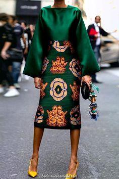 Summer Women Long Sleeve Printed Fashion Midi Plus Size Dress Hot Sale!Summer Women Long Sleeve Printed Fashion Midi Plus Size Dress - Unique Long Hairstyles Ideas African Fashion Dresses, African Dress, African Style, Green Fashion, Look Fashion, Fall Fashion, Fashion Coat, Cardigan Fashion, Floral Fashion