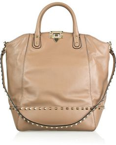 valentino rockstud new dome leather bucket tote