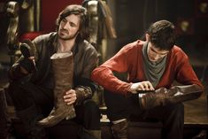Only Gwaine would help Merlin with the chores. He's wonderful that way...