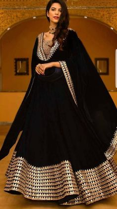 Breathtaking Black Lehenga Inspirations You Gotta See Black Mirror Work Lehenga Designer Party Wear Dresses, Kurti Designs Party Wear, Lehenga Designs, Indian Designer Outfits, Designer Punjabi Suits, Designer Anarkali, Indian Attire, Indian Wear, Indian Outfits