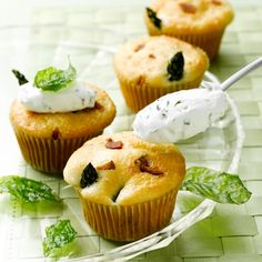Savory & Sweet Bacon Asparagus #Cupcakes. #dining #desserts